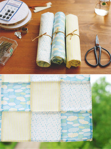 1/4 Fabric  3p Pack - 16 cloud